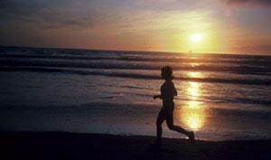 running_sunset